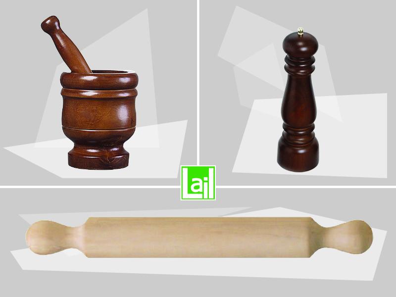 Mortai macinapepe e mattarelli in legno i nostri for Accessori per cucina in legno